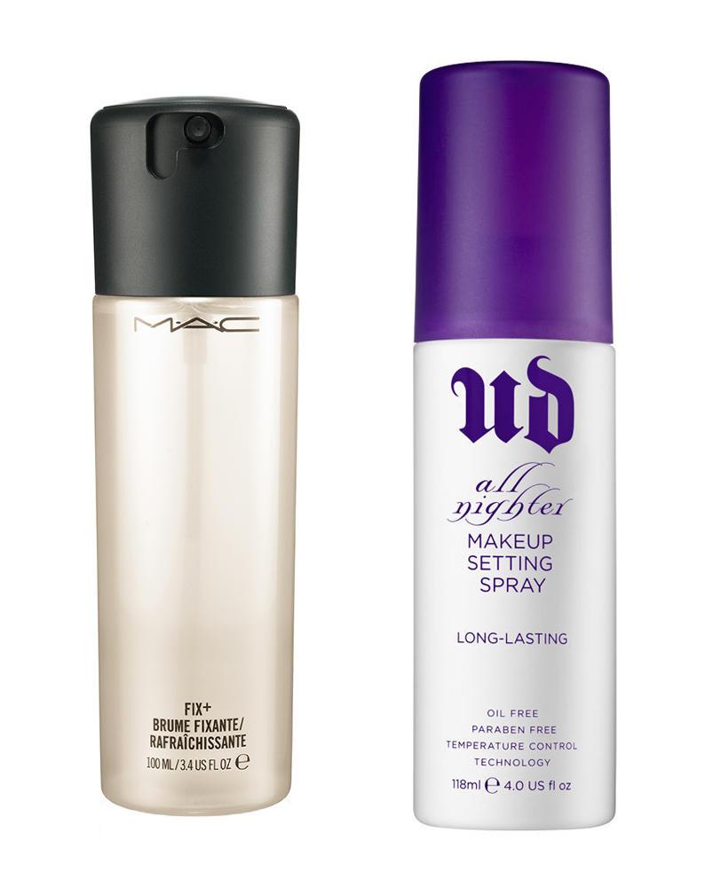 MAC Fix Plus VS Urban Decay All Nighter Long-Lasting Makeup ...