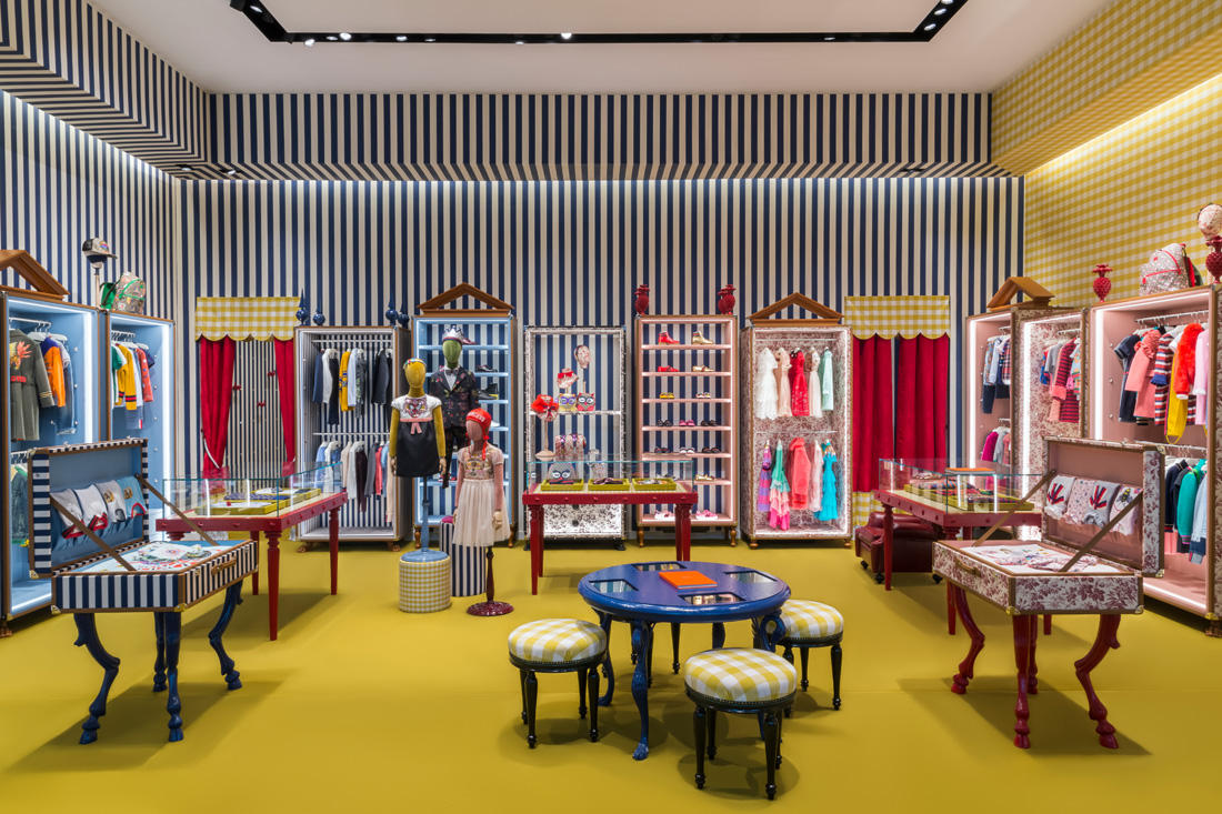 5c23da2d2 Gucci is sending kids on an escapade through the House s whimsical universe  by opening a new children s store at the heart of The Dubai Mall.
